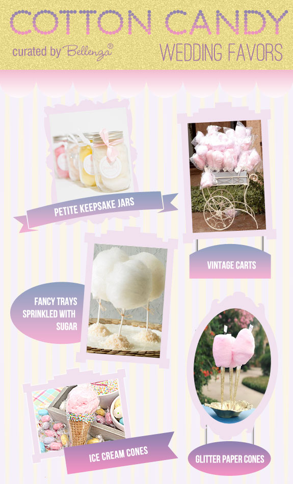 Glitz and glam ways to make your cotton candy favors!