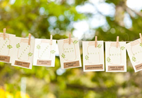 Mason jar place cards cutouts