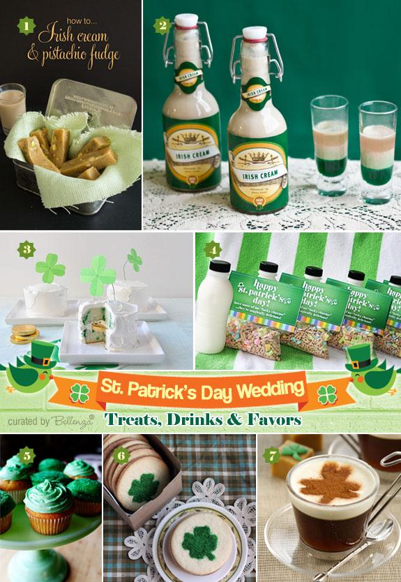St Patricks Day Wedding Irish Inspired Treats And Favors