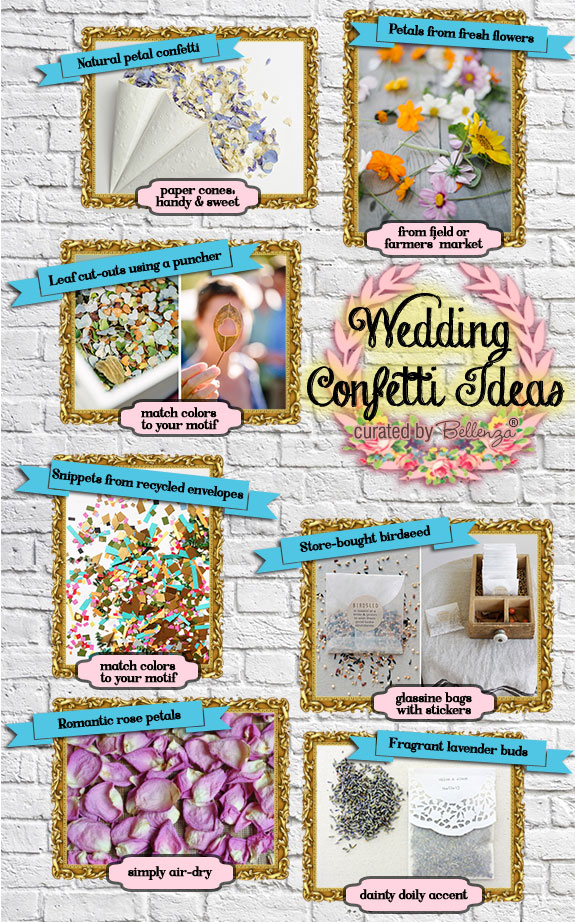 Don't know what to use for wedding confetti? How about something eco-friendly! See the fab ideas on the Wedding Bistro at Bellenza.
