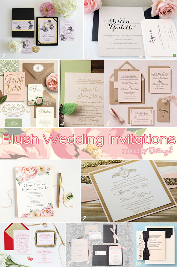 Blush Wedding Invitation Finds by the Wedding Bistro at Bellenza