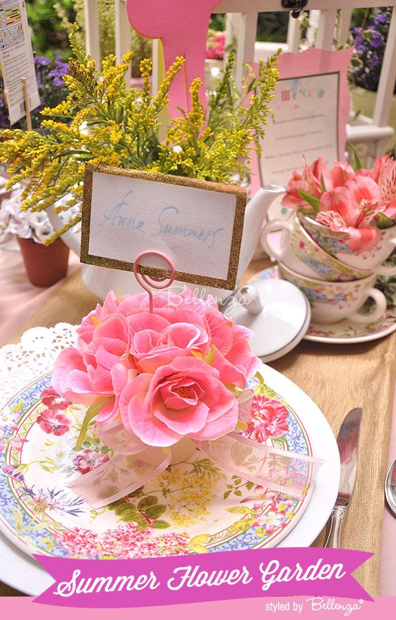 Summer Flower Garden Wedding in Pink Florals
