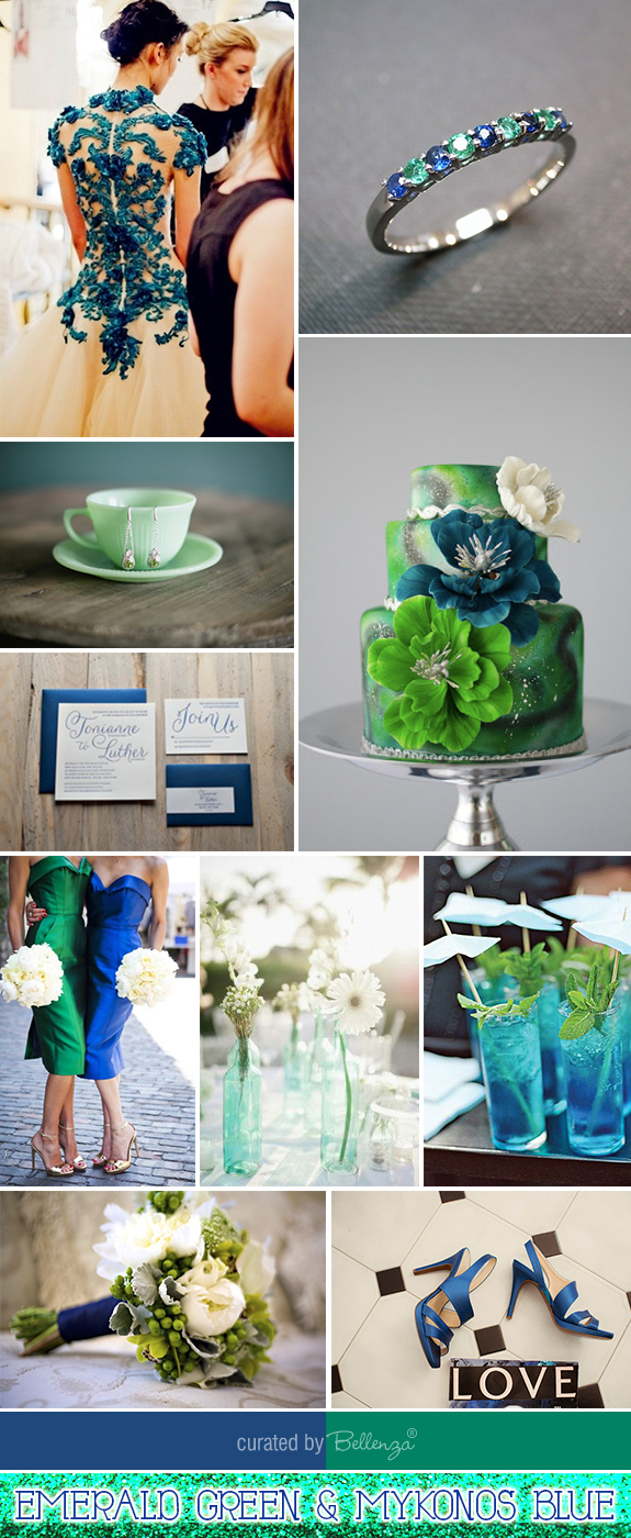 Inspiration And Ideas For Emerald Green Blue Wedding