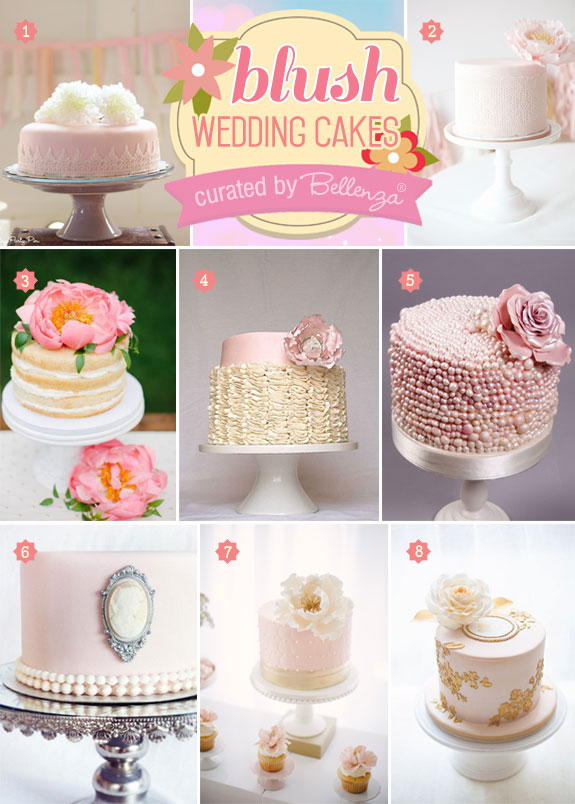 Blush Wedding Cakes that are Single Tier as featured on the Wedding Bistro at Bellenza