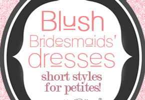 Blush dresses for petites