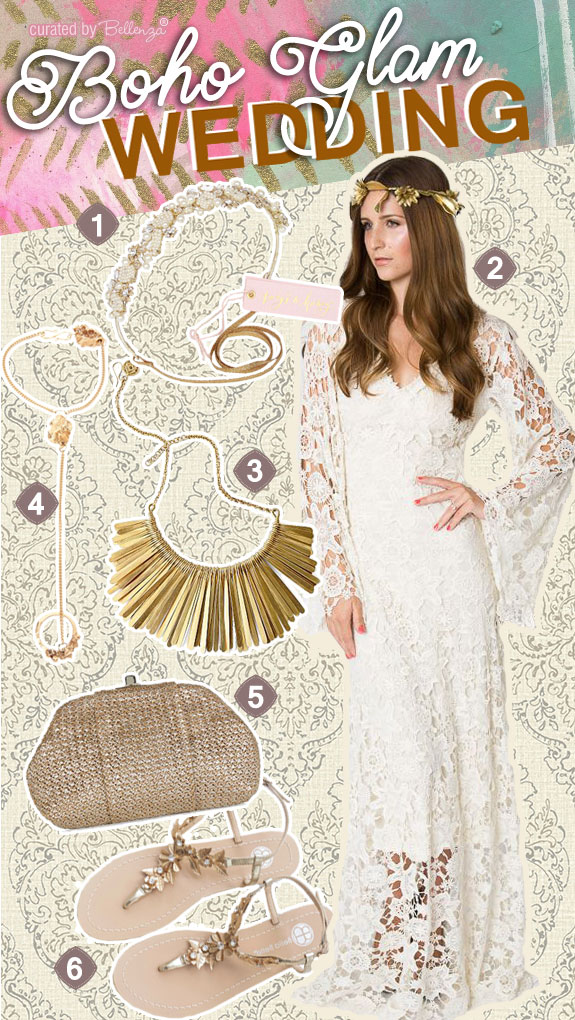 Boho Glam Inspiration for the Modern Bride | as featured on the Wedding Bistro at Bellenza!