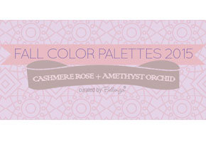 Fall Wedding Palettes 2015: Cashmere Rose + Amethyst Orchid