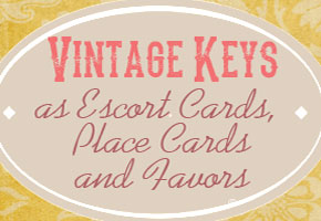 Vintage keys as favor ideas