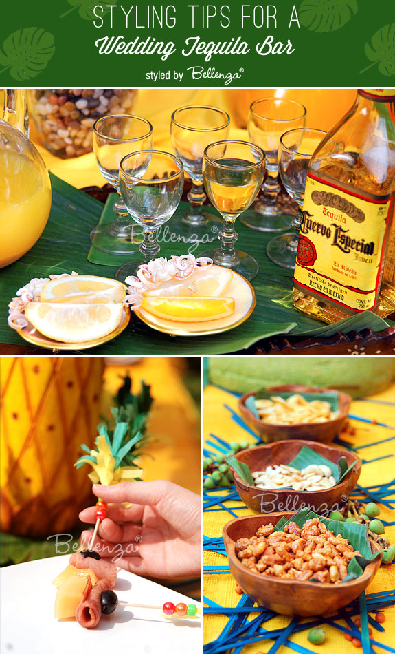 Tequila Bar Tips For Styling and What to Serve Guests as Appetizers | as styled by the Wedding Bistro at Bellenza. #weddingideas #tequilaweddings
