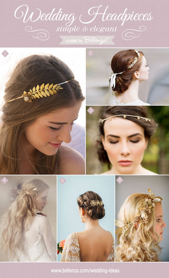 Simple headpieces from floral crowns to headbands | as featured on the Wedding Bistro at Bellenza