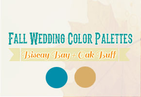 Biscay Bay + Oak Buff: A Rustic Fall Wedding Palette!