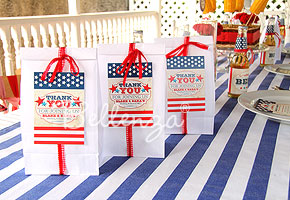July 4th Wedding Favors: All Wrapped Up in Red, White, and Blue ...