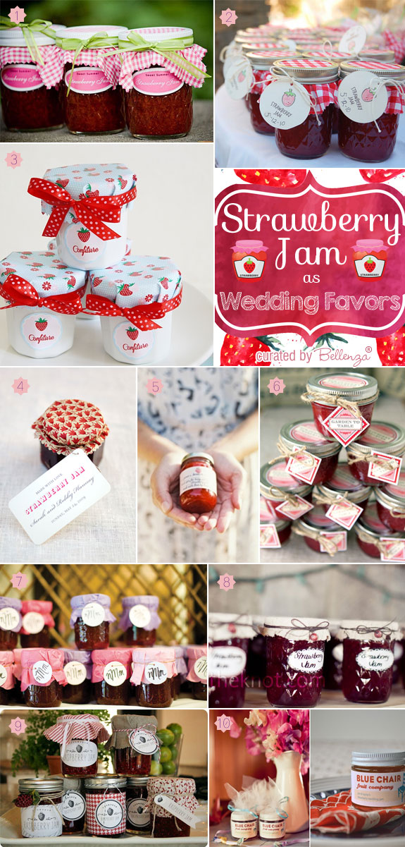 Strawberry Jam as Favors for Your Wedding. #strawberryjamfavors #strawberryweddings