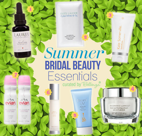 Pre-Wedding Skin Care and Treatment Products for the Summer Bride. #summerbeautyessentials #summerweddingbeauty