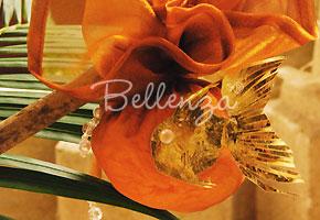 Orange bundles in organza by Bellenza