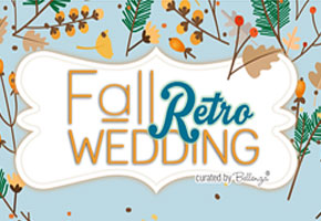 A Blue Retro-inspired Fall Wedding with a Vintage Flair!