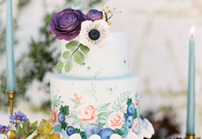 Handpainted Wedding Cakes: So Pretty for Fall!