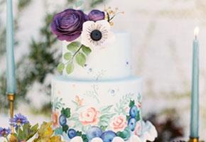 Fall handpainted cake