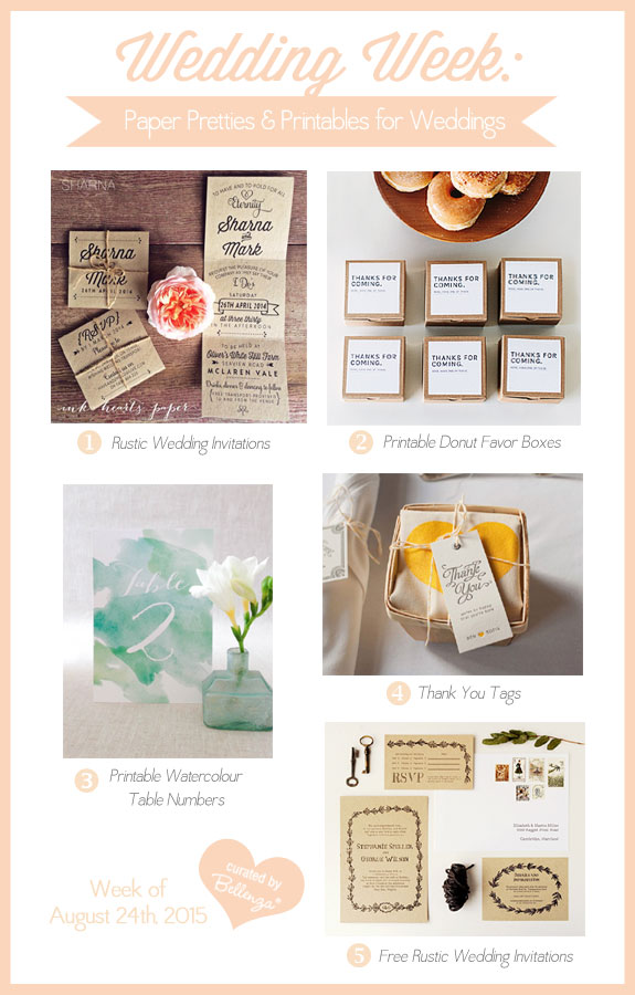 Pretty Paper & Printables for Fall as Featured on The Wedding Bistro at Bellenza's Wedding Week. #weddingweek #weddingprintables
