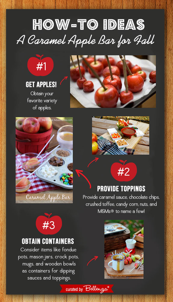 HOW-TO! Set Up a Caramel Apple Bar for Your Fall Wedding! #caramelapplebar