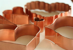 Copper cookie cutters via Living Gorgeously