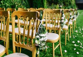 Garden ceremony chairs