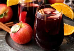 Red wine sangria for fall