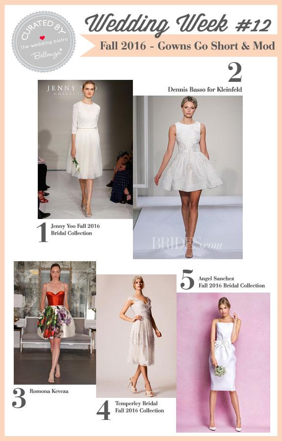 Fall 2016 Modern Wedding Dresses Go Short