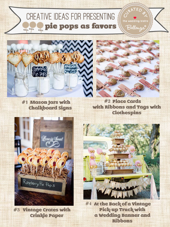 How to Package and Display Pie-Pop Wedding Favors