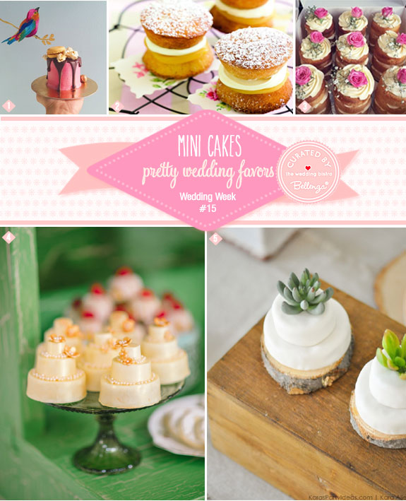Mini Cake Inspiration for Different Wedding Themes