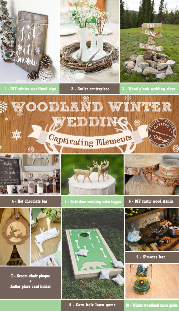 Woodland Winter Wedding Decorations How To Capture The Look