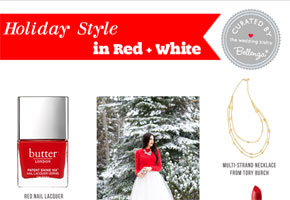 rFeel like a Silver Screen Diva with Holiday Outfit in Red and White