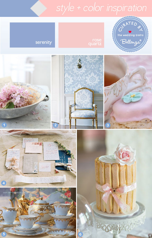 Styling Rose Quartz and Serenity Blue for Your Wedding!