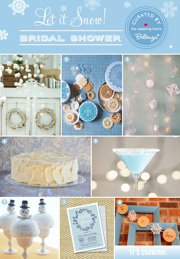 Snow themed bridal shower ideas | The Wedding Bistro at Bellenza. #winterwonderlandbridalshower