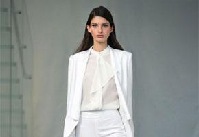 Ready to wear white suit by Rachel Zoe, via Vogue