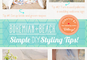 Bohemian + Beach Wedding: DIY Decorations with a Can-Do Attitude!