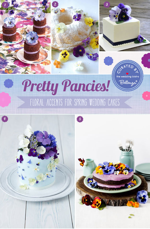 Pancies Strike Up Lovely Spring Wedding Cakes Packed with Prettiness!
