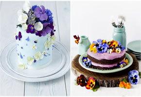 Pansies Inspire Pretty Spring Cakes for Weddings