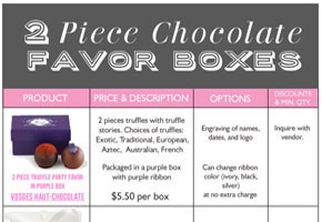 The 2-Piece Chocolate Favor Box: Ready-made Luxe!