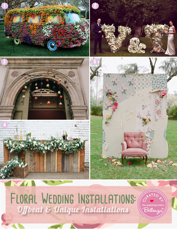 Unique and Offbeat Ideas Floral Installations for Spring Weddings
