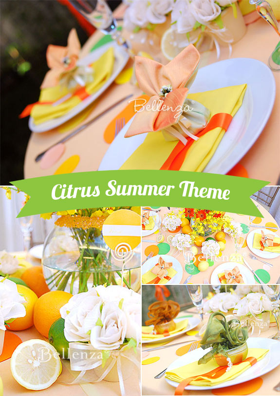citrus theme bridal shower
