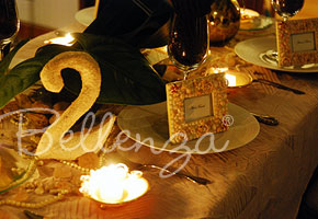 Sand textured table number for a beach wedding tablescape
