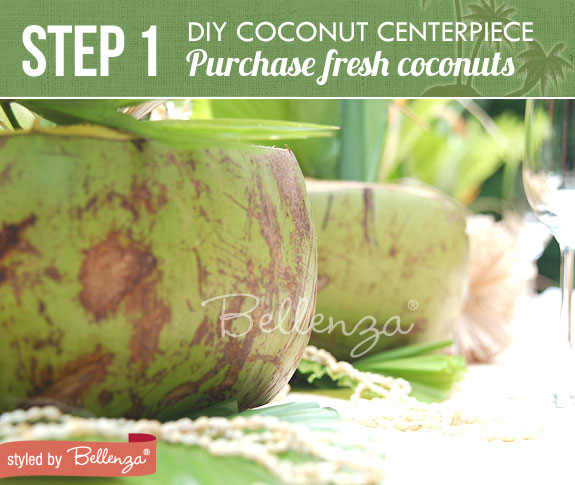 See do tropical wedding centerpiece using coconuts leaves step 1 purchase coconuts diy tropical centerpiece using coconuts bellenza junglespirit Image collections