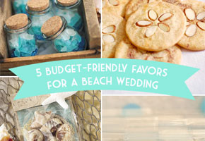 Choosing Favors for a Beach Wedding When Cost is an Issue