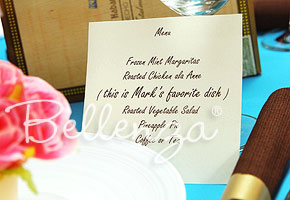 Havana Theme Party Menu Card  - The Bellenza Wedding Blog