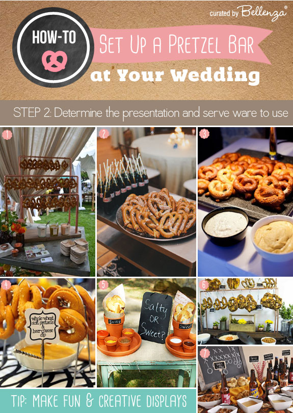Determine how to display the pretzels and what serve ware to use.