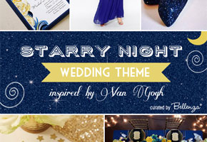 "Art Theme Wedding Series: Inspiration from Van Gogh's ""Starry Night"""