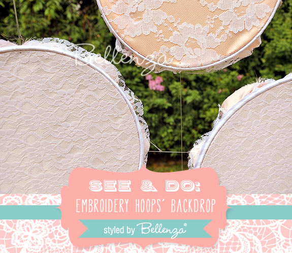 Make Your Own Embroidery Hoop Backdrop for Ceremony or Reception