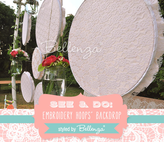 Add the decorative elements you've prepared to match your theme and color palette with the backdrop.