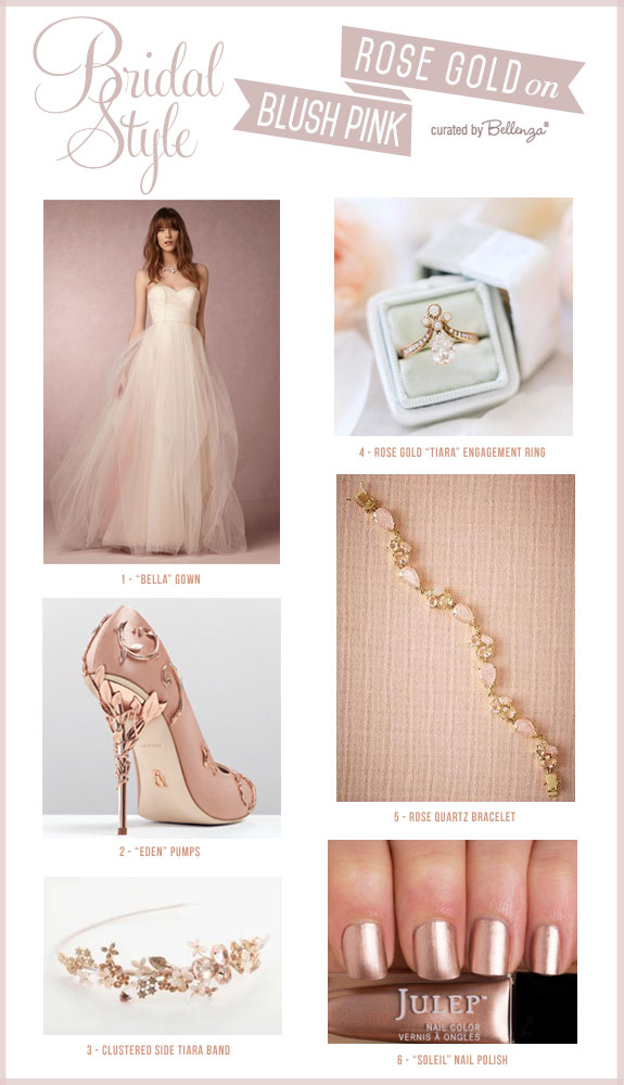 Creating Your Wedding Ensemble in Blush Pink and Rose Gold